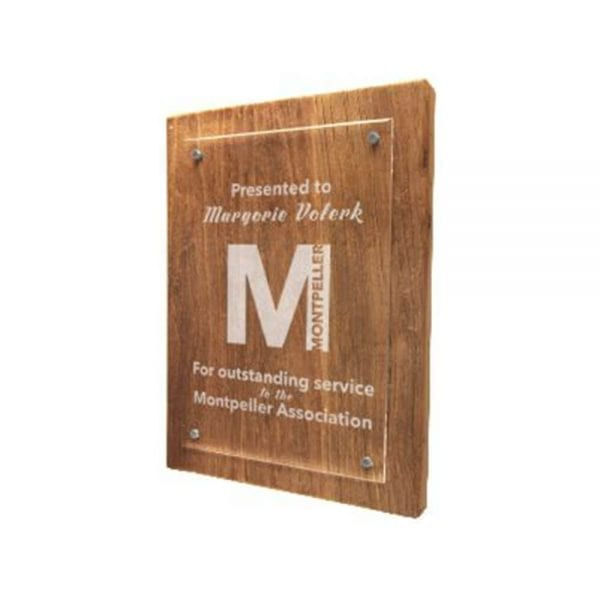 Reclaimed Wood Floating Plaque