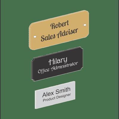 Plastic Name Plates