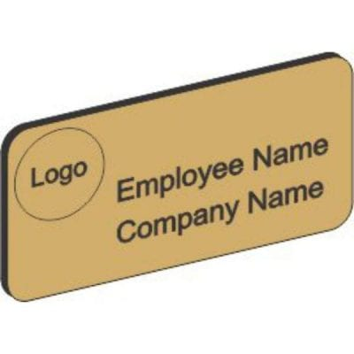 Brushed Gold Plastic Name Badge